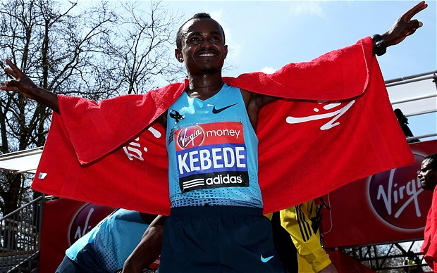 Tsegaye Kebede - London Marathon 2013: Tsegaye Kebede of Ethiopia wins men's race for the second the time, after victory in 2010