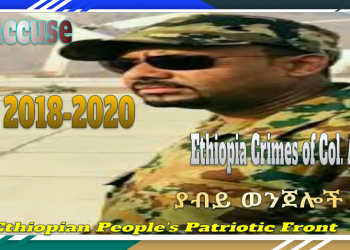 Crimes of Peace Noble Laureate Col. Abiy Ahmed ያብይ ወንጀሎች 2018-2020, EPPF